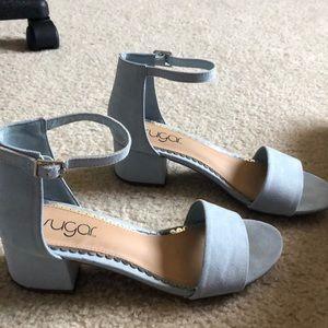 "2"" baby blue sugar heels"